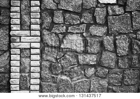 a gray one a stone wall background