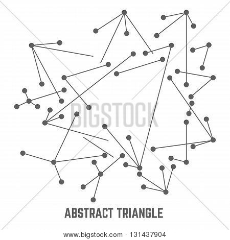 Vector connect lines illustration. Outline tech background. Business network abstract concept. Technology and digital backdrop with mesh. Stripes dots and point design.