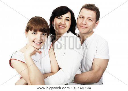 Happy Family: Eltern mit ihrer aufgewachsenes Tochter.