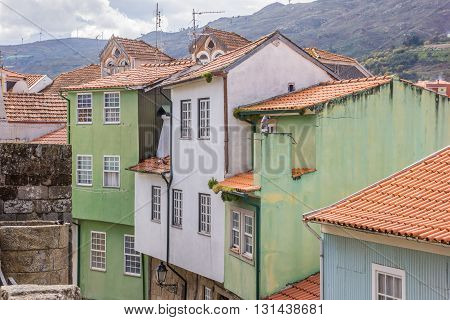 Colorful Houses In The Historical Town Of Lamego