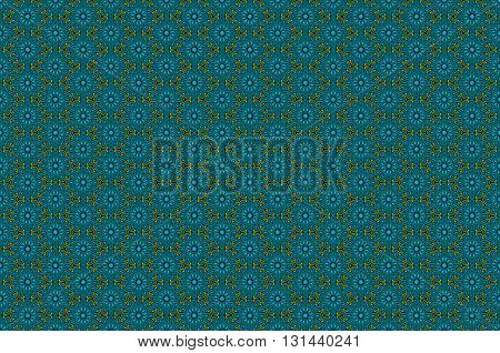 Seamless Pattern In Luxury Style. Gold And Blue Ornate Background. Filigree Floral Motif. Vector Ill