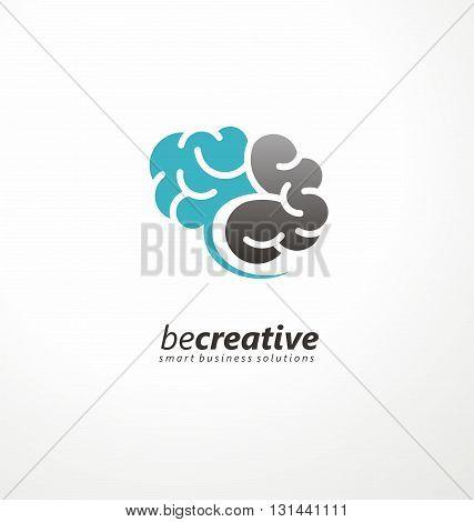 Brain Logo vector design layout. Creative idea symbol concept.