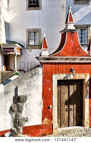 The Gate Leading to the Courtyard in the Portuguese City of Obidos