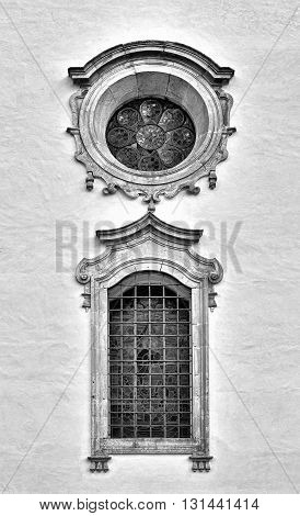 The Renovated Facade of the Old Portugal House Retro Image Filtered Style