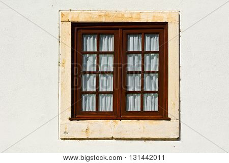 Window in the Wall of Portuguese Home