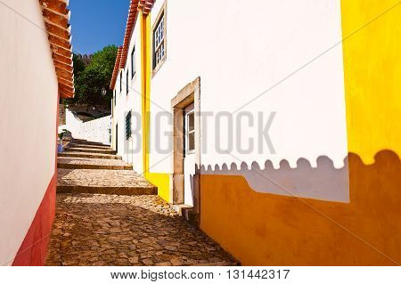 Street in the Medieval Portuguese City of Obidos