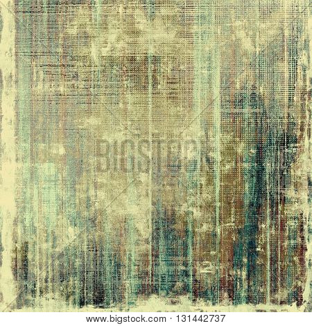 Shabby texture or background with classy vintage elements. Grunge backdrop with different color patterns: yellow (beige); brown; gray; blue; cyan