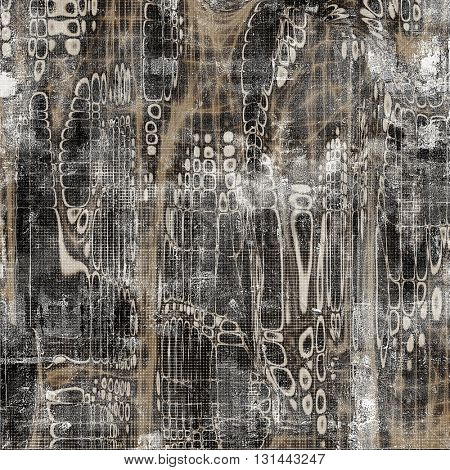 Grunge abstract textured background, aged backdrop with different color patterns: yellow (beige); brown; gray; white; black