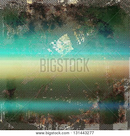 Grunge antique frame, vintage style background. With different color patterns: yellow (beige); brown; gray; green; blue; cyan