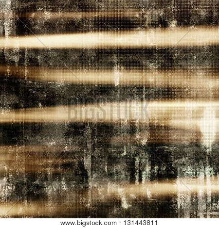 Grunge background with vintage style graphic elements, retro feeling composition and different color patterns: yellow (beige); brown; gray; white; black