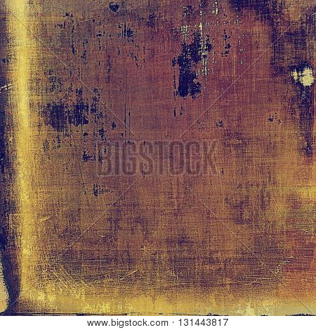 Vintage background with dirty grungy texture or overlay and different color patterns: yellow (beige); brown; purple (violet); pink