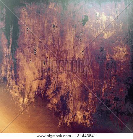 Grunge background with vintage style graphic elements, retro feeling composition and different color patterns: yellow (beige); brown; red (orange); purple (violet); pink; black