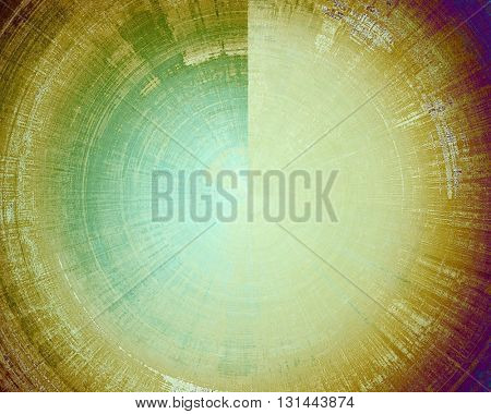 Creative grunge background in vintage style. Faded shabby texture with different color patterns: yellow (beige); brown; green; blue; purple (violet)