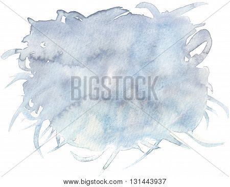 abstract wet blue gray dirty watercolor background