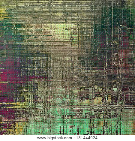 Old school background or texture with vintage style grunge elements and different color patterns: yellow (beige); brown; gray; green; purple (violet); cyan