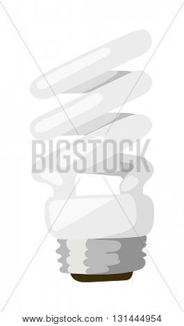 Power save lamp vector illustration.