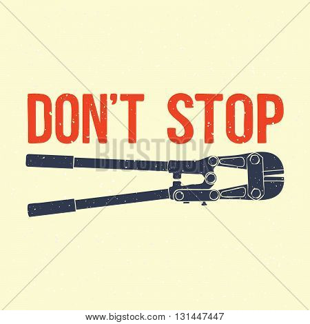 Do not stop tool isolated vector illustration