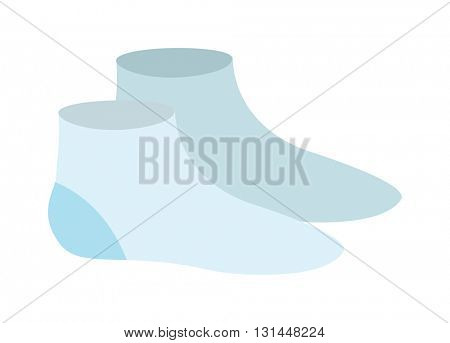 Bue pair of socks flat cartoon vector style