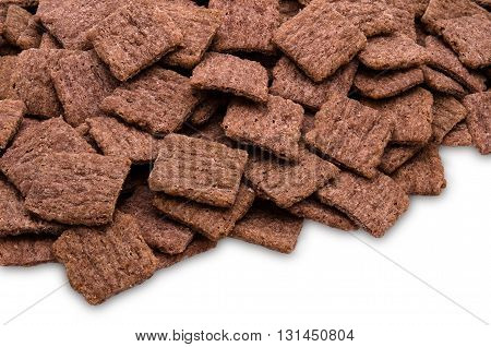Red rice crackers, close up of nutrition wholegrain snack