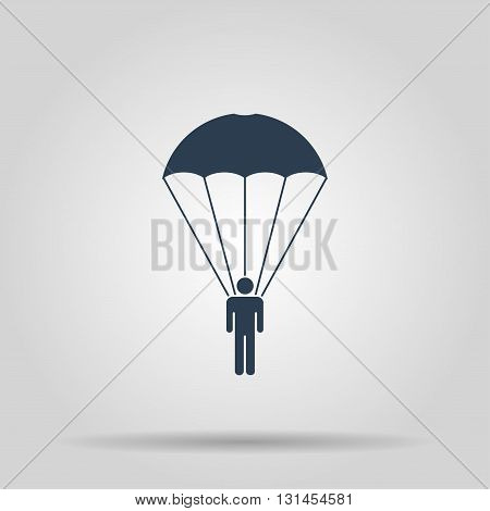 Parachute jumper. Vector concept illustration for design.