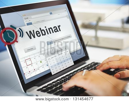 Webinar Meeting Conference Seminar Online Technology Concept