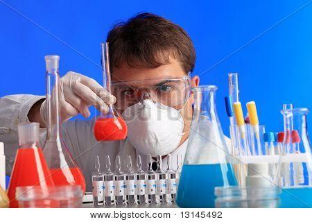 Tema médico: doctor seria trabajar en un laboratorio.