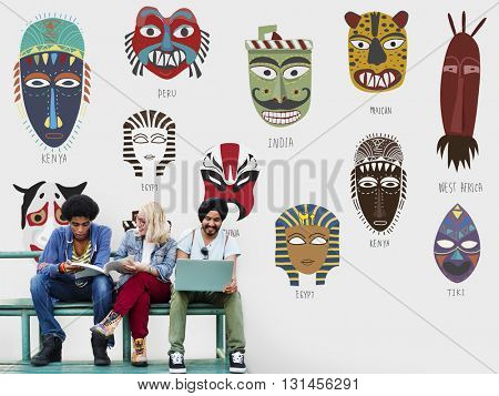 Cultural Traditional Masks Global Concept