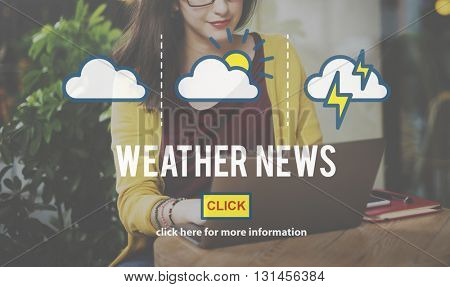Weather News Information Prediction Climate Daily Concept