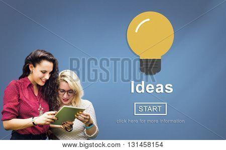 Ideas Sharing Website Mission Objective Online Concept
