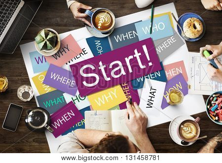 Start Beginning Start up Launch Forward Motivation Concept