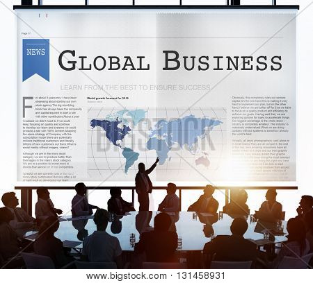 Global Business Export Import Networking Growth Concept