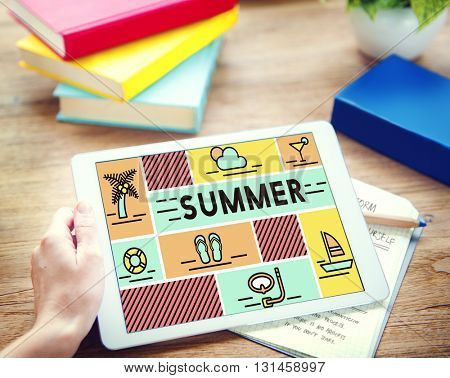 Summer Holiday Rest Vacation Relaxation Concept