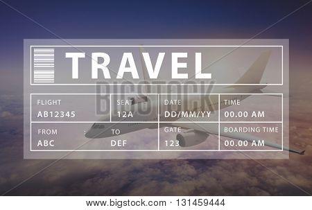 Flight Travel Vacation Holiday Destination Concept