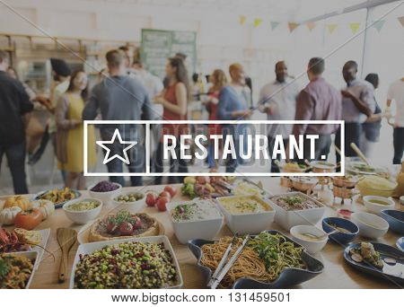 Restaurant Bistro Culinary Food Kitchen Cafeteria Concept