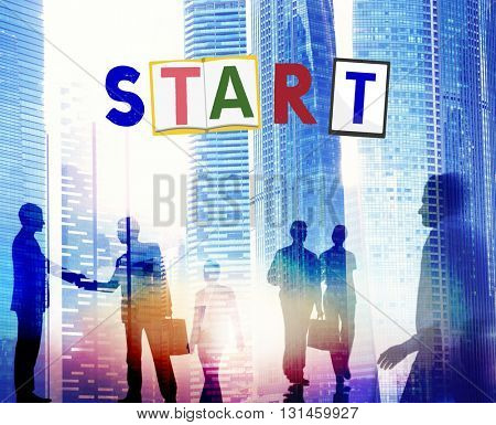 Start Begin Open Motivation Ready Concept