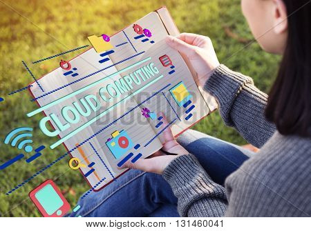 Technology Graphic Cloud Computing Word Concept