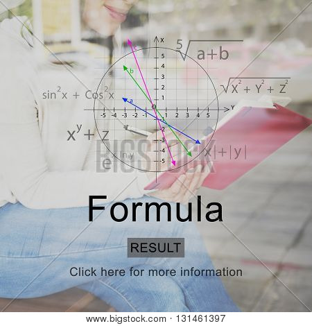 Formula Algebra Analytics Education Math Concept
