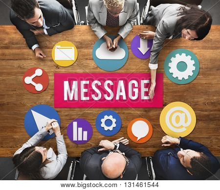 Message Connection Graphic Business Meeting Concept