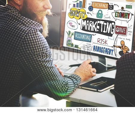 Marketing Economy Commercial Digital Growth Concept