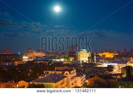 Kiev In Moonlight. Ukraine