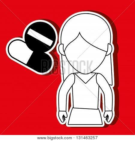 person avatar design, vector illustration eps10 graphic