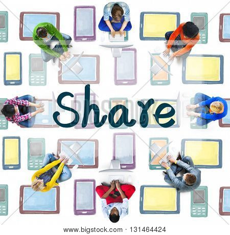 Share Sharing Connection Communication Networking Concept