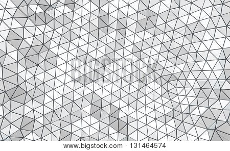 3D illustration - Black and white low poly texture.