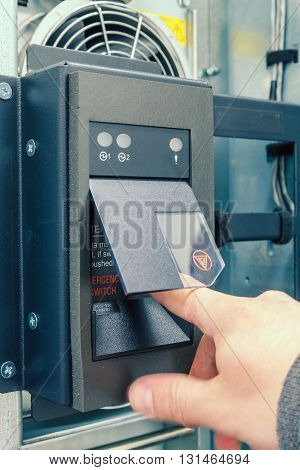 power button on the enterprise server and the hand engineer