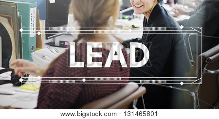Lead Leader Authority Coach Direction Manager Concept