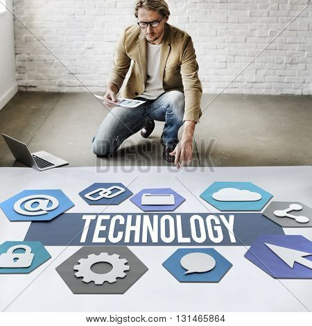 Modern Technology People Graphic Concept