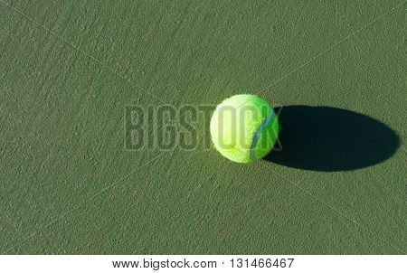 Tennis. Championship. Tennis ball on the hard surface courts