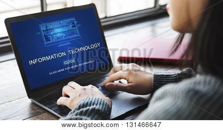 Information Technology Digital Data Electronic Concept