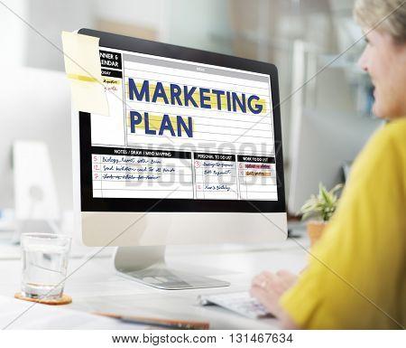 Marketing Plan Strategy Calendar Planner Concept