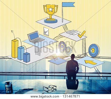 Businessman Goal Concept